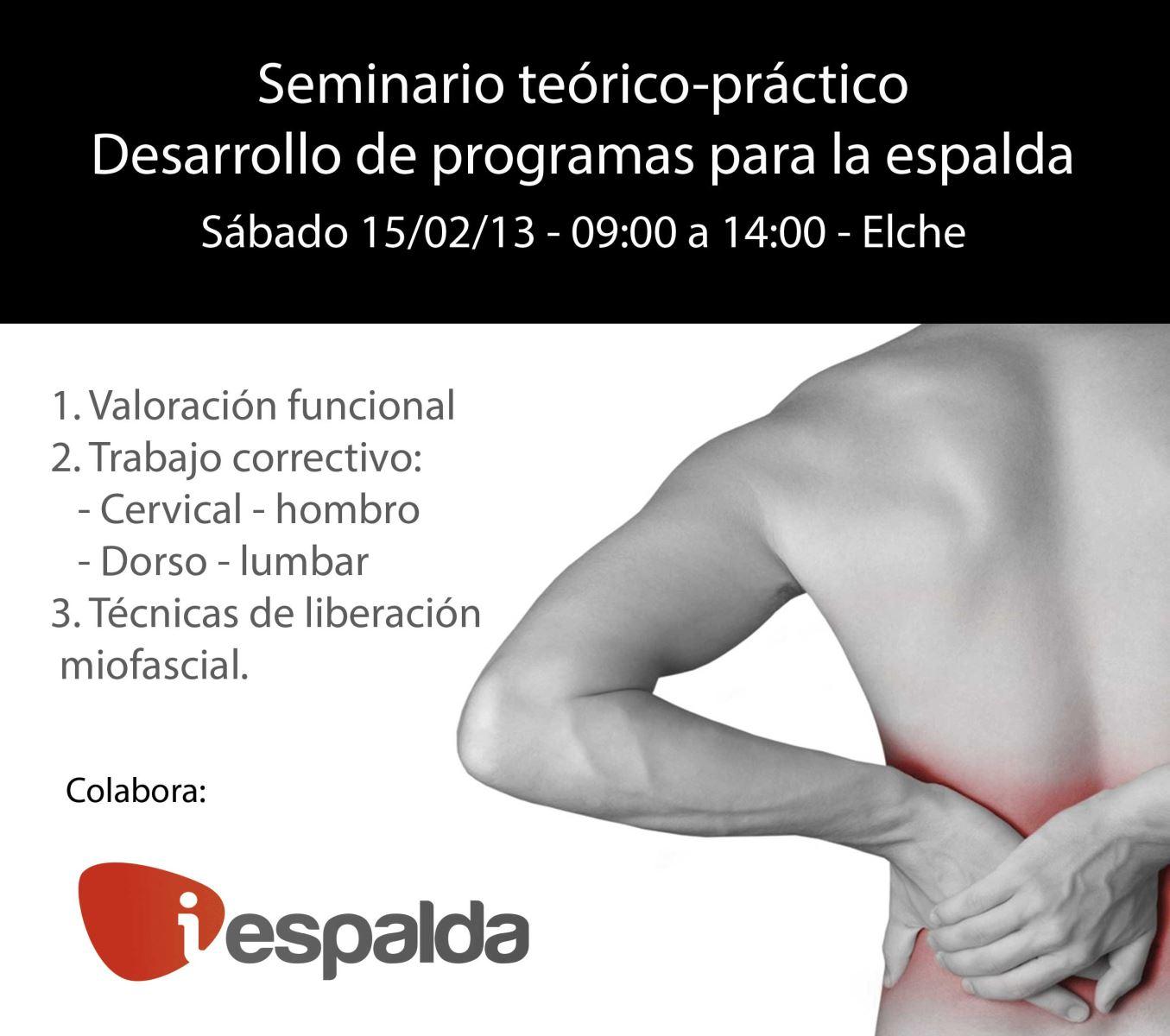 Seminario desarrollo de programas de ejercicio para la espalda